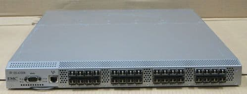 Brocade EMC DS-4100B 4100 32 Port FC Fibre Channel SAN Switch + SFPs 100-652-032