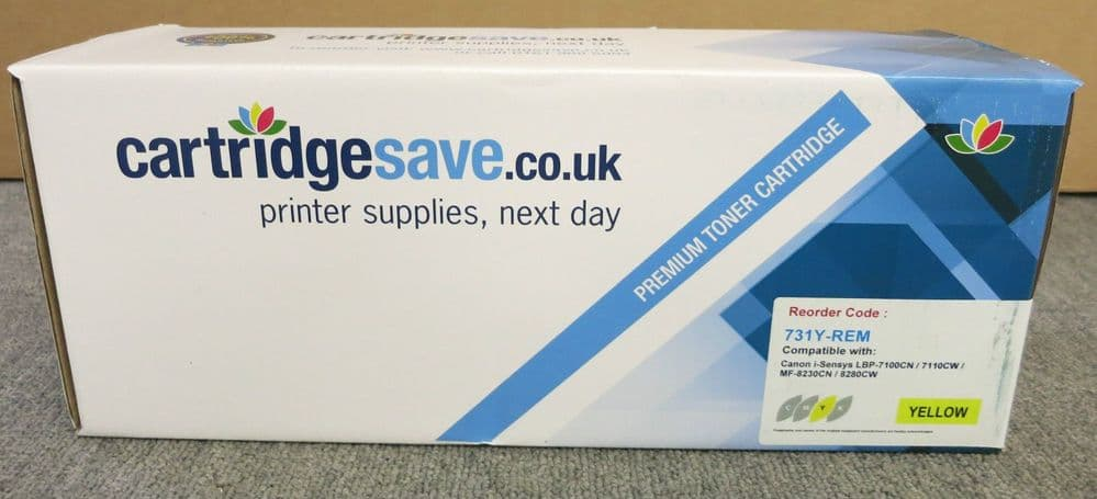 Cartridgesave 731Y-REM New Boxed Yellow Toner Cartridge - 6269B002 for Canon