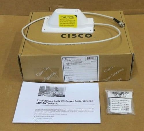 Cisco Aironet AIR-ANT2450S-R 2.4GHz 5dBi Sector Antenna With RP-TNC Connector