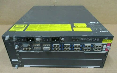 Cisco Catalyst 6500 Series WS-C6503-E 3-Slot 2 x PWR-1400-AC  WS-X6516-GBIC