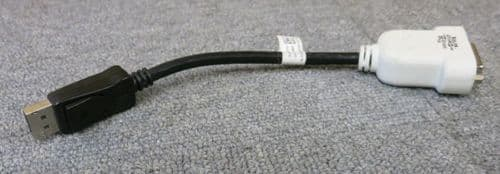Dell 0F388M DisplayPort to DVI-D Adapter Single Link 19cm Cable Connector