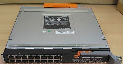 Dell 10G-PTM Ethernet Pass Through Module for M1000e,16-Port Gigabit WW060