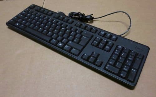 Dell KB212-B QuietKey Wired Keyboard AZERTY 0646N 0DJ497  USB French DJ571