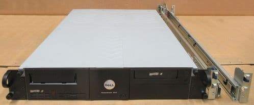 Dell PowerVault 114T 2U Tape Drive Enclosure WITH 1 x LTO-3 + LTO-4 Tape drives