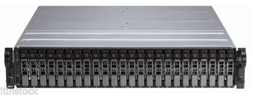 "Dell PowerVault MD1120 2U 24 bay 2.5"" SAS Storage Array 2 x contr 2xP  24x 900GB"