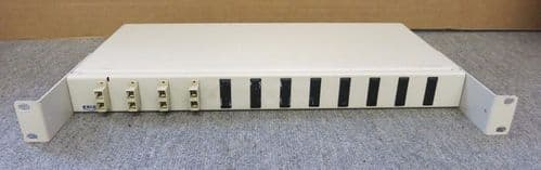 Excel 4 Port Rack Mountable White Fibre Optic Patch Panel 1U 19 Inches