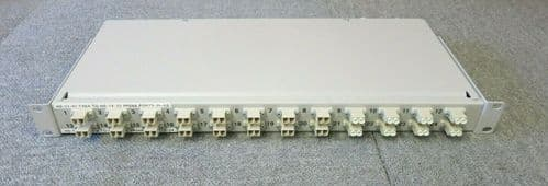 "Fibre Optic Network 24 Port Fibre Channel LC Rack Mount White 1U 19"" Patch Panel"