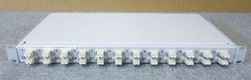 Fibre Optic Network 24 Port Fibre Channel LC Rack Mount White 1U Patch Panel