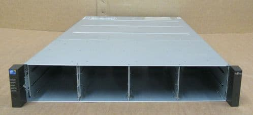 "Fujitsu ETERNUS CS800 S4 Base Shelf 2x 8GB Controller 12 x 3.5"" SAS Bays 2x PSU"