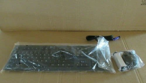 Fujitsu S2638-K551-L465 S26381-K431-V100 QWERTY UK PS/2 Wired Keyboard & Mouse