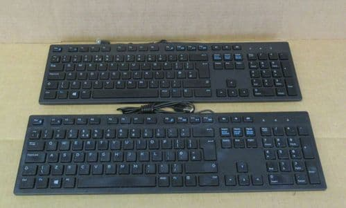 Job Lot 2 x Dell KB216t RX6RM Black UK QWERTY USB Wired Multimedia Keyboard