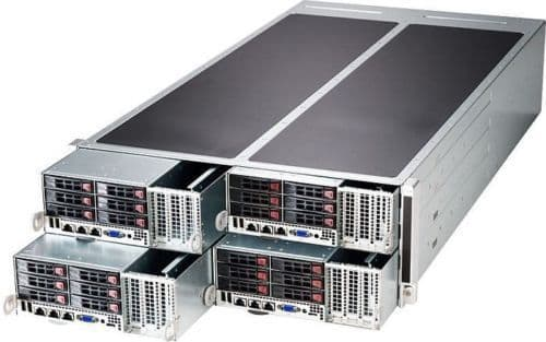 New Supermicro Superserver SYS-F627G2-FT+ FatTwin 4 nodes GPU/Xeon Phi Server