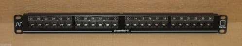 Nexans Essential-5 Cat5E 24-Port 1U Rack Mount Network Patch Panel RJ45 Black