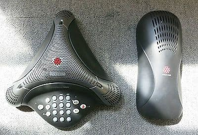 Polycom 2201-17910-001 VoiceStation 300 Analog Conference Phone And Power Module