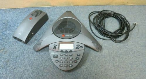 Polycom SoundStation 2201-07142-001 VTX1000 Display Wideband Conference Phone