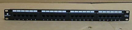 Quantum C5e PA24T-KDA Patch Panel 24 Port Patch Panel