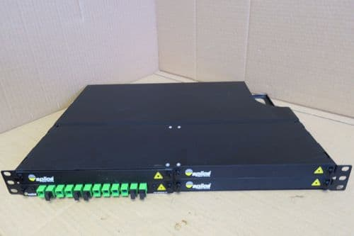 Splice SpliceGroup Fibre Optic Rack Mount Patch Panel 19inch 1U 12 Port