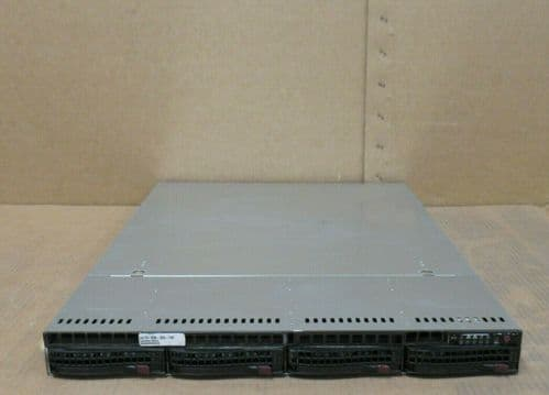 Supermicro 1U CSE-815 H8DGU-F 2x 16 Core AMD 6272 2.10Ghz 128GB RAM 4Bay Server