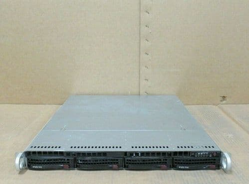 Supermicro 1U CSE-815 H8DGU-F 2x 16 Core AMD6272 2.10Ghz 128GB RAM 4-Bay Server