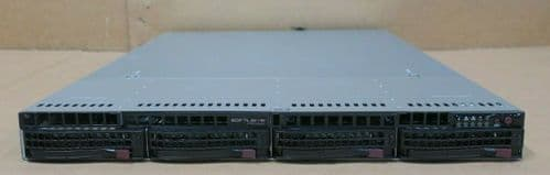 Supermicro 1U CSE-815 X10SLH-N6-ST031 E3-1270v3 3.50GHz 16GB Ram 4-Bay Server