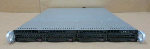 Supermicro 1U CSE-815 X10SLM+-LN4F E3-1270v3 16GB Ram 4x HDD Bay LSI RAID Server
