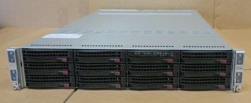 Supermicro A+ 2022TG-HIBQRF 4-Node Server 128 cores 2.3GHz 1024GB Ram 2U Rack