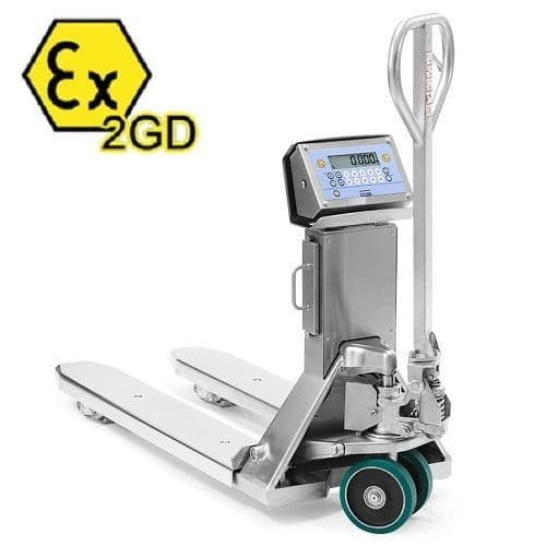Dini Argeo TPWIEX2GD Trade Approved Stainless Steel Pallet Truck Scale
