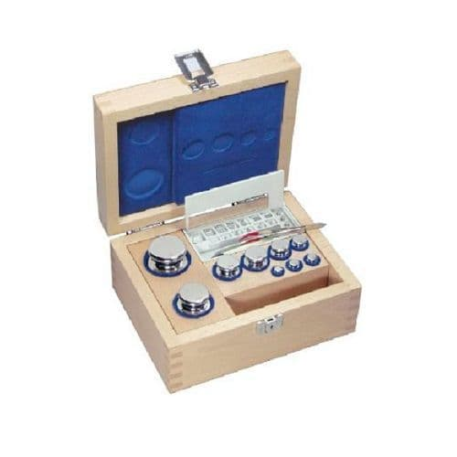 F1 OIML Stainless Steel Calibration Weight Sets - Wooden Box