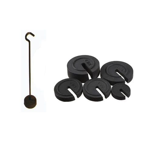 Slotted Iron Calibration Weights & Hangers
