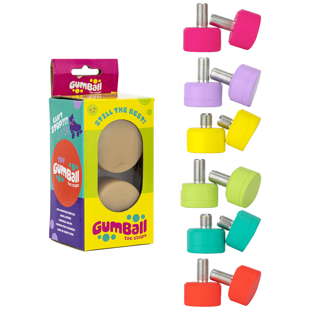 Gumball Toe Stops - Colours available