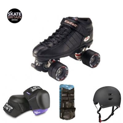 Riedell R3 pack with 187 Pro/ pro derby knee pads