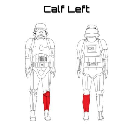 ORIGINAL STORMTROOPER ARMOUR PARTS [Calf left]