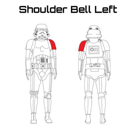 ORIGINAL STORMTROOPER ARMOUR PARTS [Shoulder Bell Left]