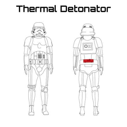 ORIGINAL STORMTROOPER ARMOUR PARTS [Thermal Detonator]
